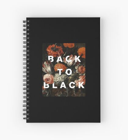 BACK TO BLACK Spiral Notebook