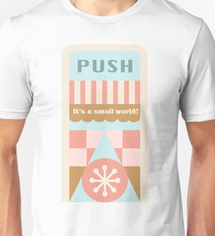 Small World Trash Can Design Unisex T-Shirt