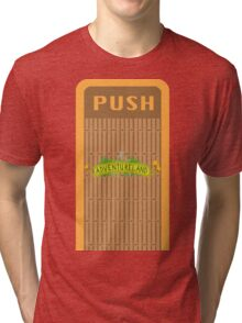 Adventureland Trash Can Design Tri-blend T-Shirt