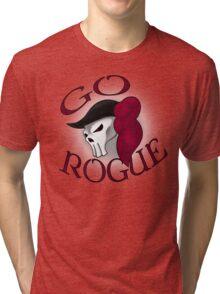 GO ROGUE SKULL Tri-blend T-Shirt