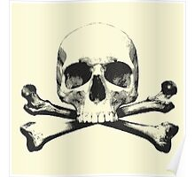 Engraved Skull and Crossbones Poster
