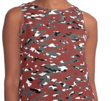 Camouflage: Red I Contrast Tank