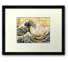 The Bubble Wave Framed Print