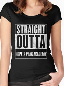 straight outta hope's peak academy Women's Fitted Scoop T-Shirt