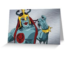 Mumm-Ra Melt Greeting Card