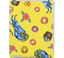 Cute funny raccoon with bouquet of flowers. Animal character. St. Valentine illustration. iPad Case/Skin