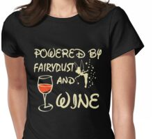 Powered by wine T-shirt Womens Fitted T-Shirt