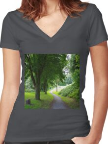 The Path To Wellbeing Women's Fitted V-Neck T-Shirt