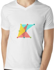 'Symmetrical' Slanted Square Mens V-Neck T-Shirt