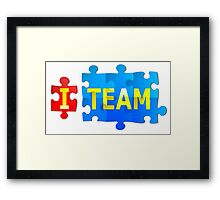 Team and I Jigsaw Puzzle Framed Print