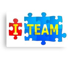 Team and I Jigsaw Puzzle Canvas Print