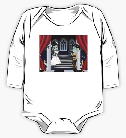 Fashion Zombie Couple near Stairs 2 One Piece - Long Sleeve