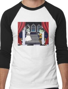 Fashion Zombie Couple near Stairs 2 Men's Baseball ¾ T-Shirt