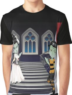 Fashion Zombie Couple near Stairs 2 Graphic T-Shirt