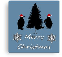 Christmas Penguins Canvas Print