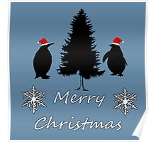 Christmas Penguins Poster