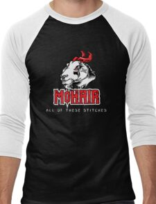 Heavy Metal Knitting - MoHair - All these stitches Men's Baseball ¾ T-Shirt