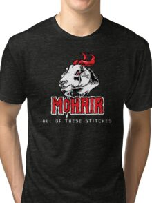 Heavy Metal Knitting - MoHair - All these stitches Tri-blend T-Shirt