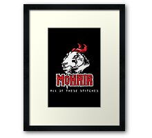 Heavy Metal Knitting - MoHair - All these stitches Framed Print