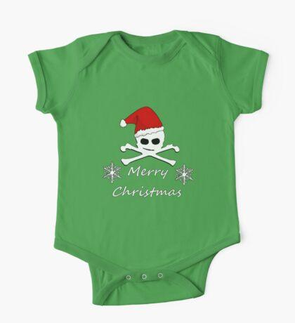 Christmas Skull One Piece - Short Sleeve