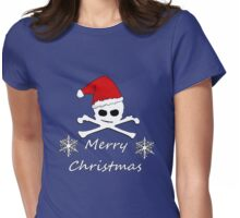 Christmas Skull Womens Fitted T-Shirt