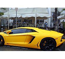 Fast luxury sports car.  Florida, USA Art gallery of Valentina Averina Photographic Print