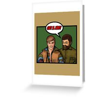 Get a job, hippy! Greeting Card