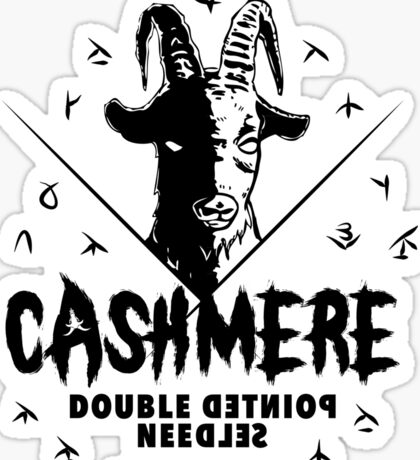 Heavy Metal Knitting - Cashmere - Double Pointed Needles Sticker