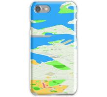 Sydney Inner West Map Perspective View iPhone Case/Skin