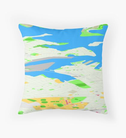 Sydney Inner West Map Perspective View Throw Pillow