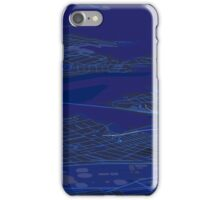 Sydney Inner West Blue Map Perspective Projection iPhone Case/Skin