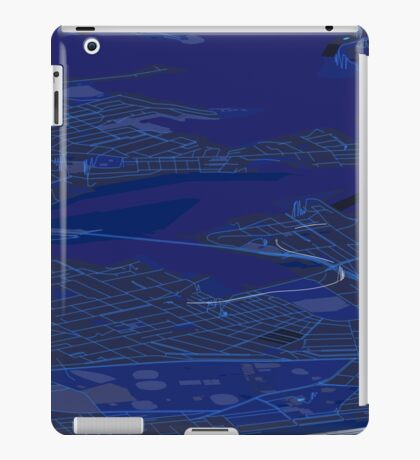 Sydney Inner West Blue Map Perspective Projection iPad Case/Skin