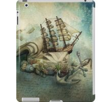Now I lay me down to read, i travel leagues before i sleep iPad Case/Skin