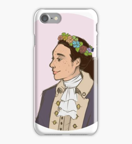 John Laurens Flower Crown iPhone Case/Skin