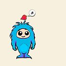 Little Blue Monster Friend by Jellyscuds