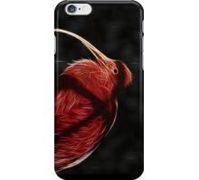 Red neon Bird iPhone Case/Skin