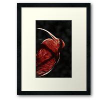 Red neon Bird Framed Print