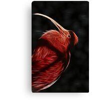 Red neon Bird Canvas Print