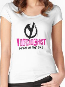 Heavy Metal Knitting - Yarnarchist - Spun in the UK Women's Fitted Scoop T-Shirt