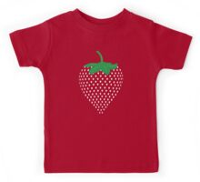 Graphic Strawberry Seeds Fruit  Kids Tee