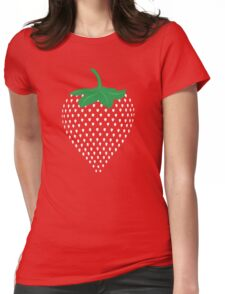 Graphic Strawberry Seeds Fruit  Womens Fitted T-Shirt