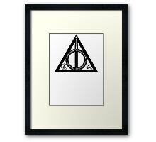 Bookly Hallows Framed Print