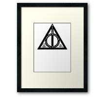 Bookly Hallows Framed Print