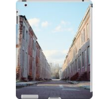 Boarded Up Rowhomes iPad Case/Skin