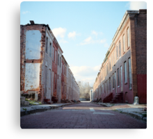 Boarded Up Rowhomes Canvas Print