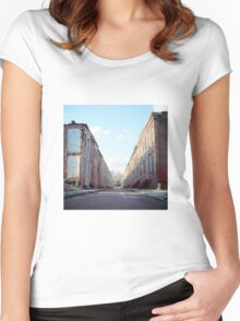 Boarded Up Rowhomes Women's Fitted Scoop T-Shirt