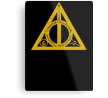 Bookly Hallows - Gold Metal Print