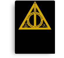 Bookly Hallows - Gold Canvas Print