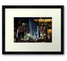 Times Square Walks Framed Print