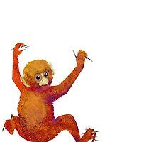 Clingy Monkey by papabuju